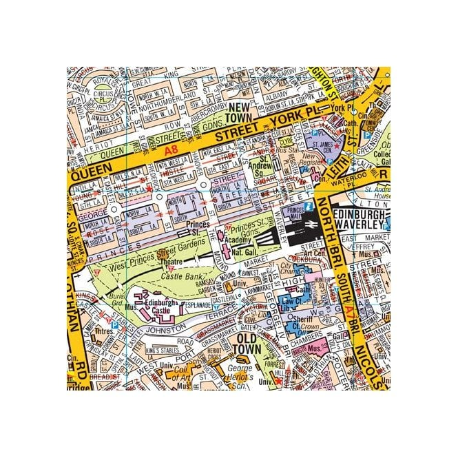 Map F London.Edinburgh A Z Premier Wall Map