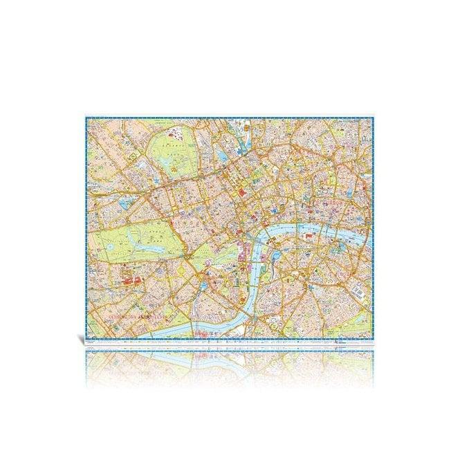 Az London Street Map.London Super Scale A Z Wall Map Laminated Edition