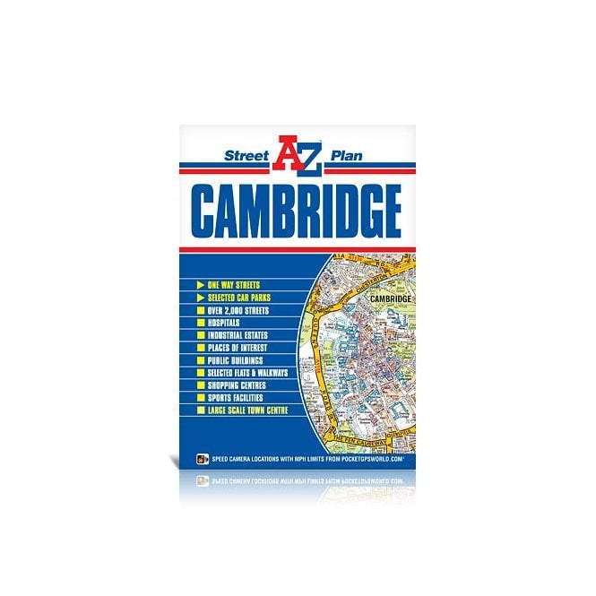 Road Map Of England And Wales With Towns.Cambridge A Z Street Plan Flat Edition