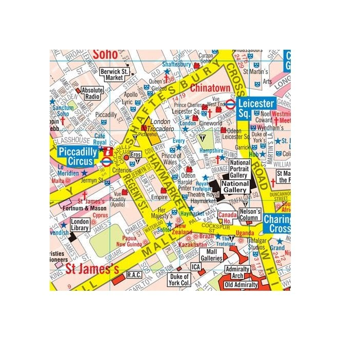London Map Central.Handy Map Of Central London