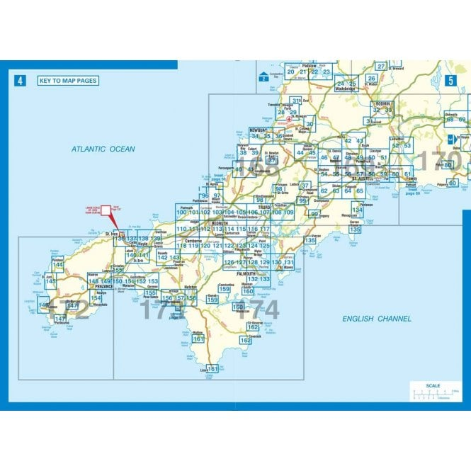 Cornwall: A-Z County Atlas (Spiral Bound) on wales map, stonehenge map, monroe woodbury map, isle of wight map, st. catharines map, stuyvesant map, dorsetshire map, england map, eden project map, united kingdom map, derbyshire map, scotland map, ontario highway 401 map, wychwood map, western highlands map, devon map, quebec map, rondout valley map, carlisle map, orkney islands map,