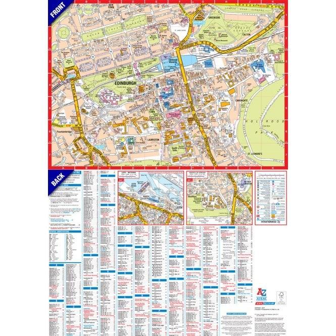 Map Edinburgh.Edinburgh A Z Mini Map