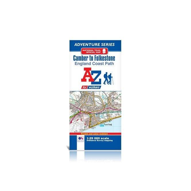 A Z Map Of England.England Coast Path Camber To Folkestone A Z Adventure Map