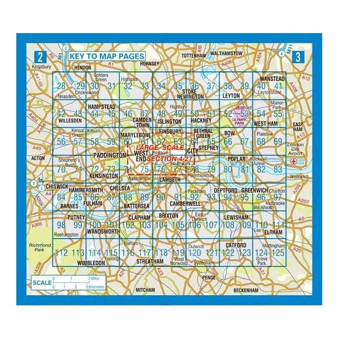 Az London Street Map.London Mini A Z Street Atlas Paperback