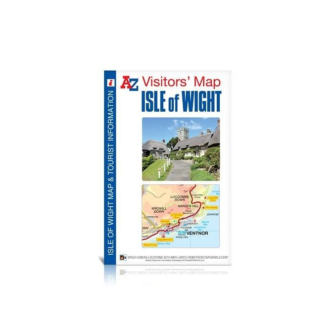 Road Map Central London.Isle Of Wight A Z Visitors Wall Map