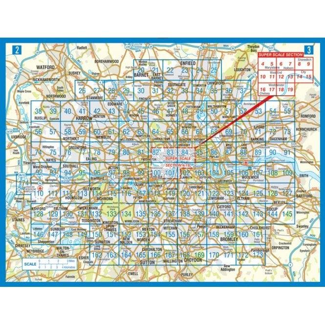 London Map Street.London A Z Street Atlas Paperback