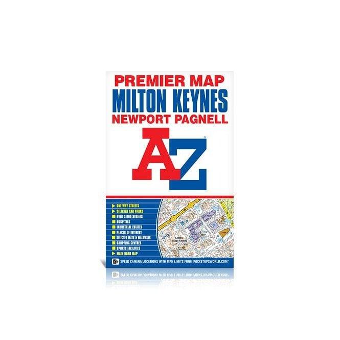 Map Of England Milton.Milton Keynes A Z Premier Wall Map