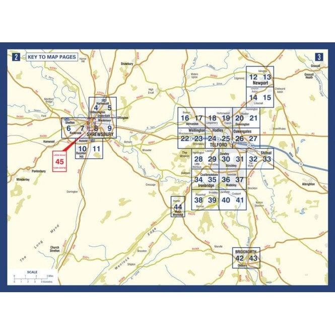 Shrewsbury & Telford A-Z Street Atlas