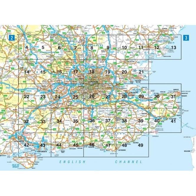 Atlas Map Of England.South East England Regional A Z Road Atlas
