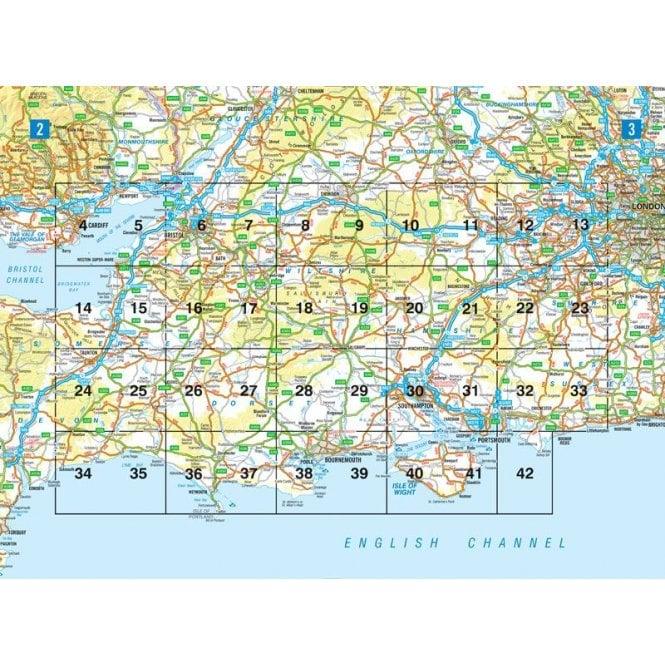 A Z Map Of England.Southern England Regional A Z Road Atlas