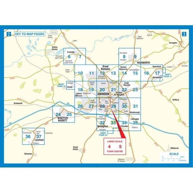Swindon A-Z Street Atlas   Published by the A-Z Map Company. on hotel company, twitter company, media company, profile company, element company,