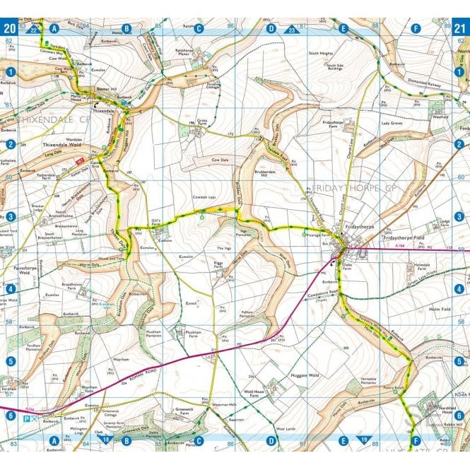 Yorkshire Wolds Way A-Z Adventure Atlas