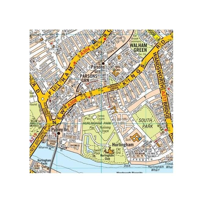 Az Street Map Of London.London A Z Premier Map Folded Encapsulated Edition