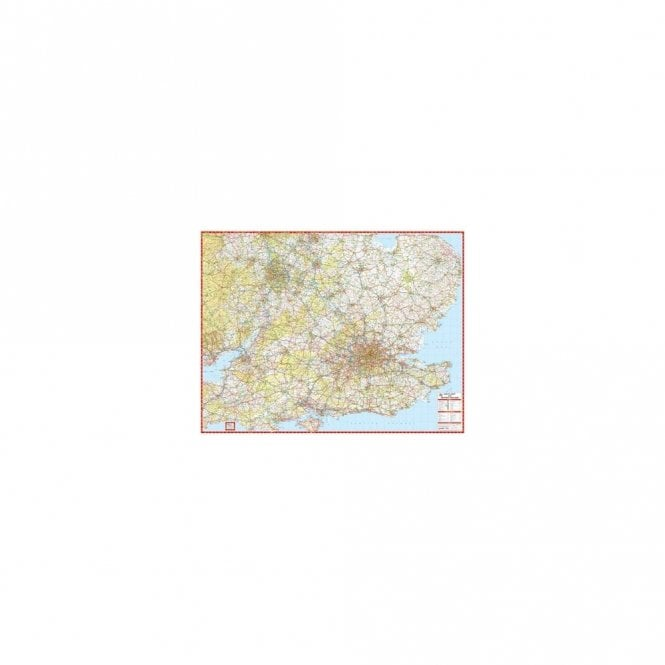 A Z Map Of England.South East Central England