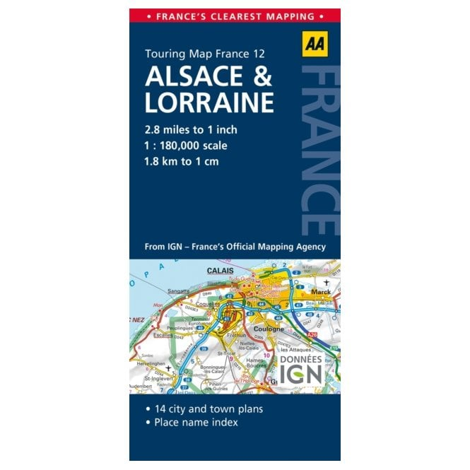 Aa Road Map France 12 Alsace Lorraine
