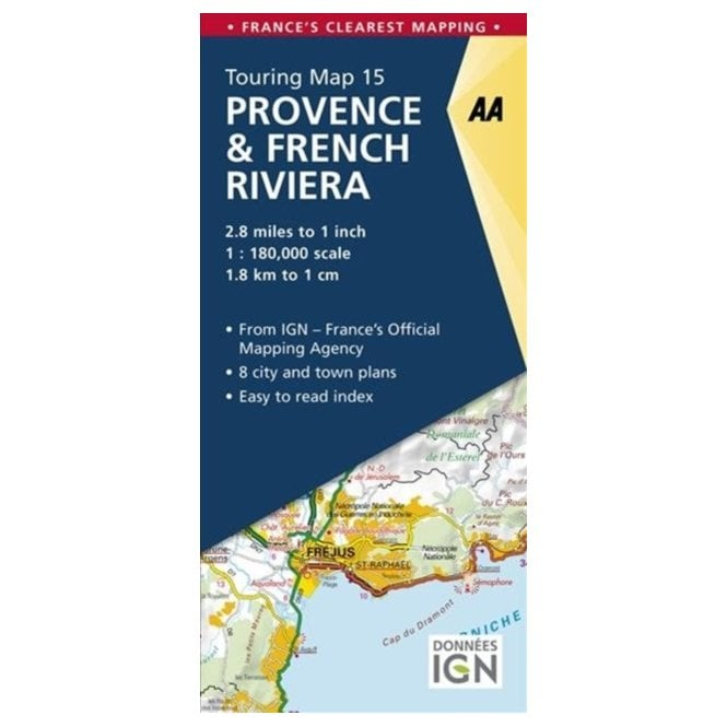 Map Of France French Riviera.Aa Road Map France 15 Provence French Riviera