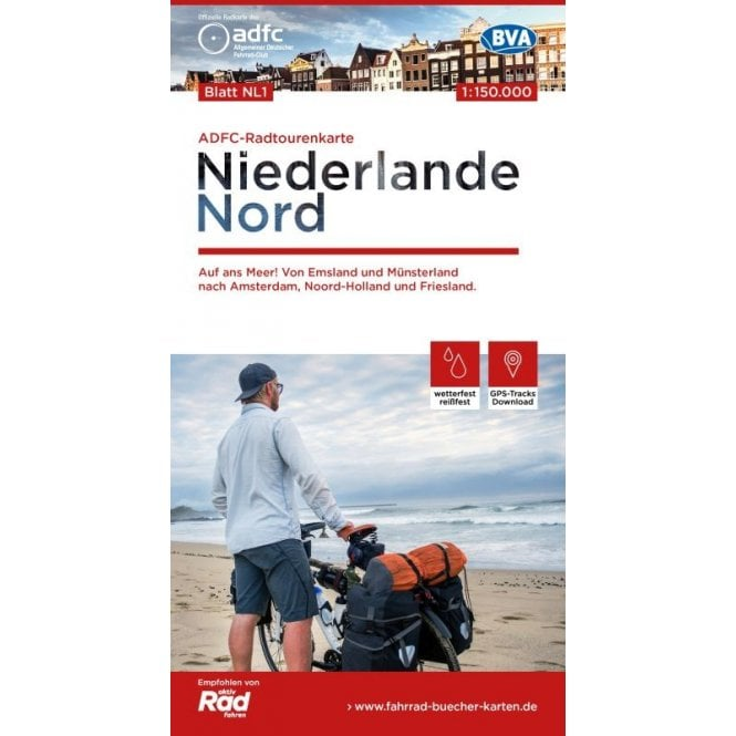 ADFC Netherlands North Cycle Tour Map