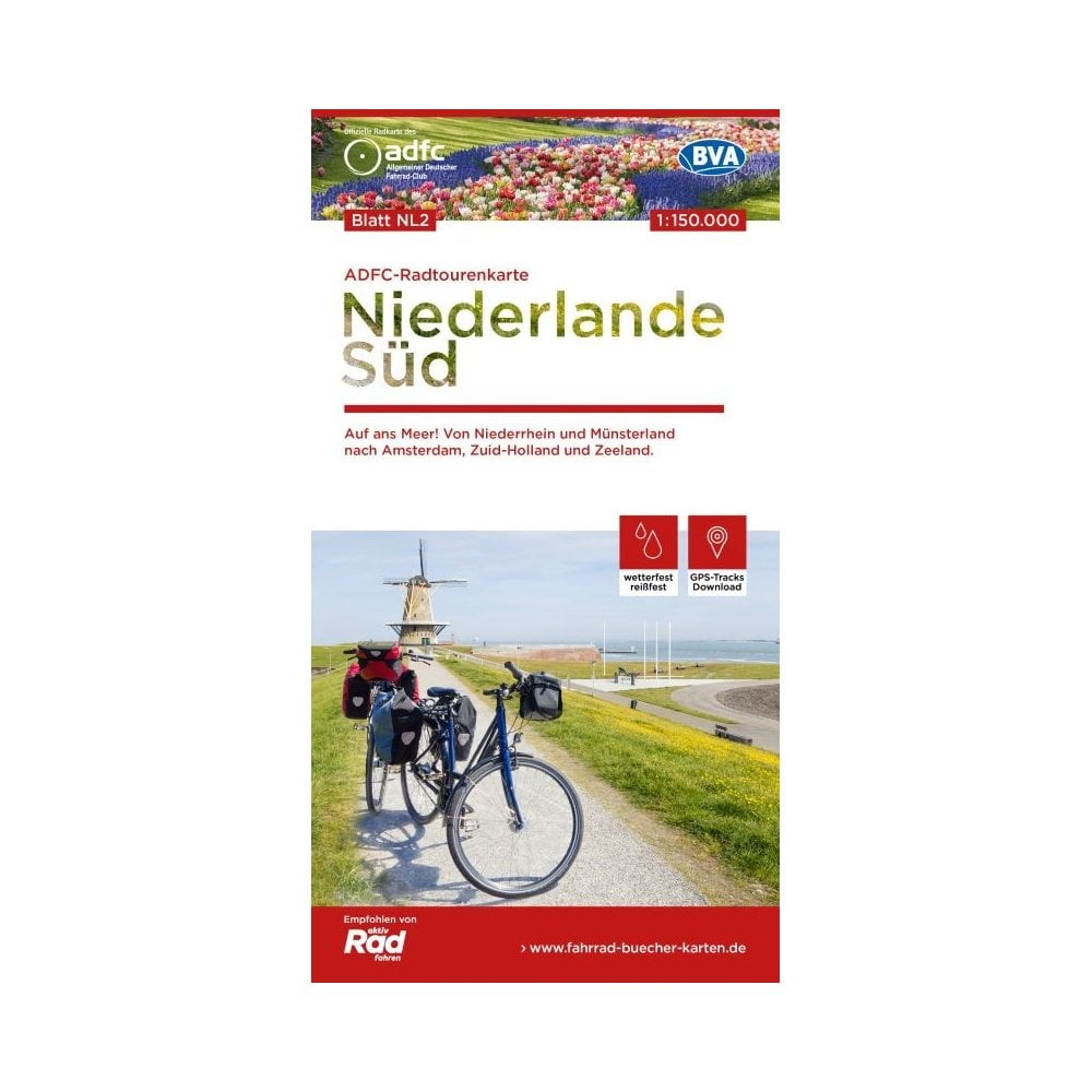ADFC Netherlands South Cycle Tour Map