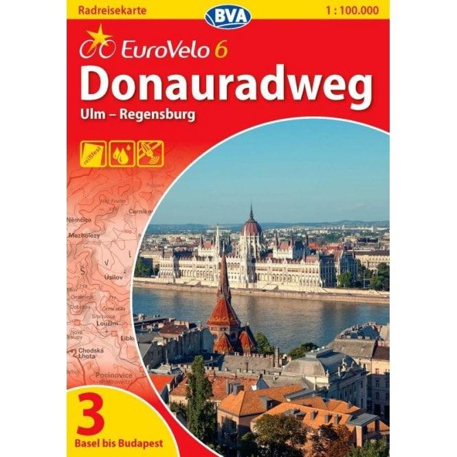 Donauradweg Ulm Passau Karte.Eurovelo 6 Karte 3 Donauradweg Ulm Regensburg Cycling Map