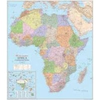 Africa Political Laminated Wall Map