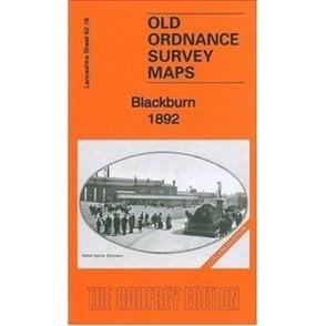 Old Ordnance Survey Maps Blackburn Lancashire 1892 Sheet 62.16 Godfrey Edition