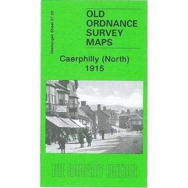 Old Ordnance Survey Maps Caerphilly West  Glamorgan 1937 Godfrey Edition New