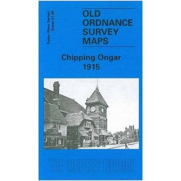OLD ORDNANCE SURVEY MAPS CHIPPING ONGAR ESSEX 1915  Godfrey Edition New