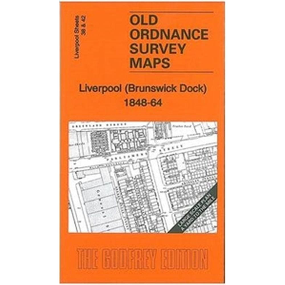 Old Ordnance Survey Maps Liverpool Brunswick Dock 1848-64 large scale plan New