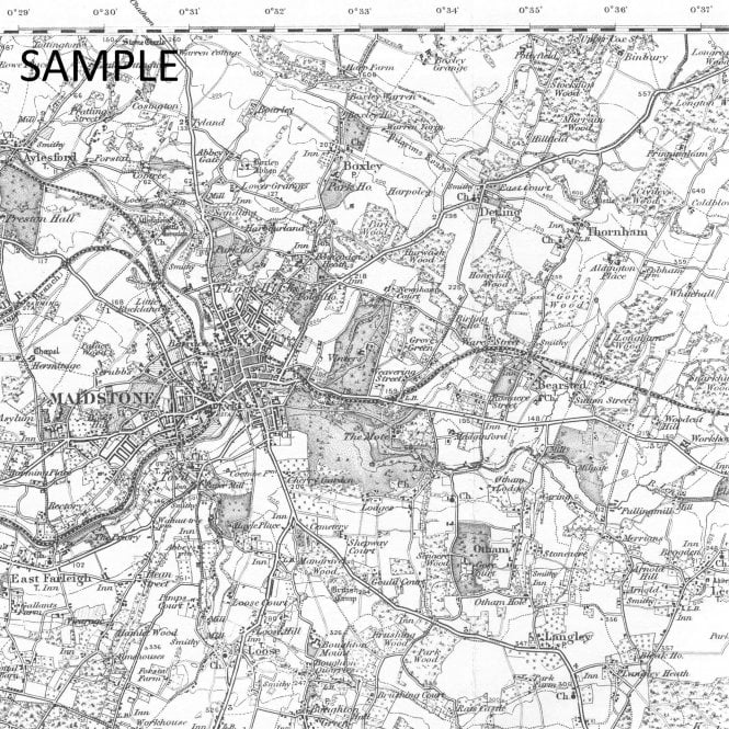OLD ONE INCH MAP MONEYMORE MAGHERAFELT COOKSTOWN 1900 TOOME THE LOUP