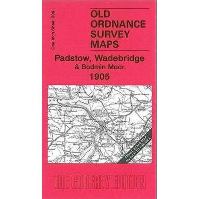 OLD ORDNANCE SURVEY MAPS  PADSTOW  WADEBRDGE BODMIN MOOR 1905 Godfrey Edition