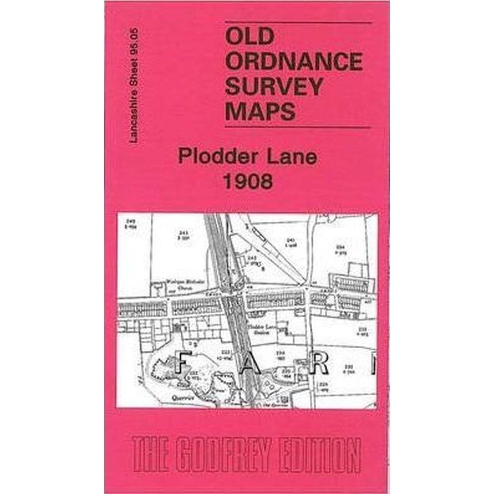 OLD ORDNANCE SURVEY MAP PLODDER LANE 1908 FARNWORTH BRACKLEY COLLIERY EDGE FOLD