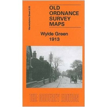 Old Ordnance Survey Detailed Maps Moseley Warwickshire 1913 Godfrey Edition New