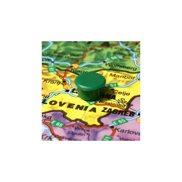 Magnetic Map Pins (Green) 13mm - (6818-18)