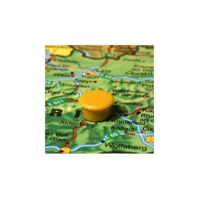 Magnetic Map Pins - Large (Yellow) 24mm - (6828-13)