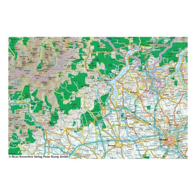Alps Map - Reise Know-How
