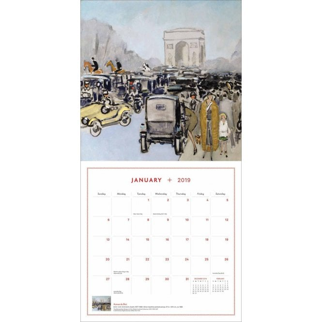 Paris 2019 Calendar