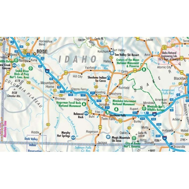 USA 1 - Pacific Northwest Road Map - Borch