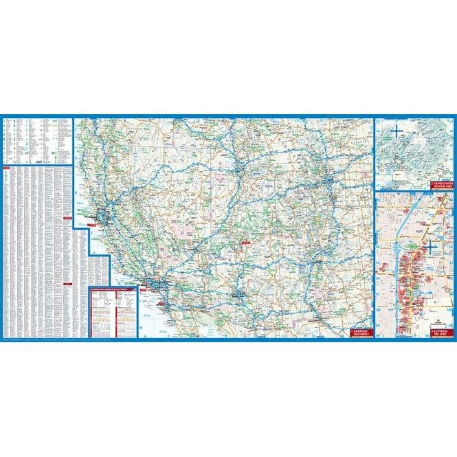 USA 2 - Southwest Road Map - Borch