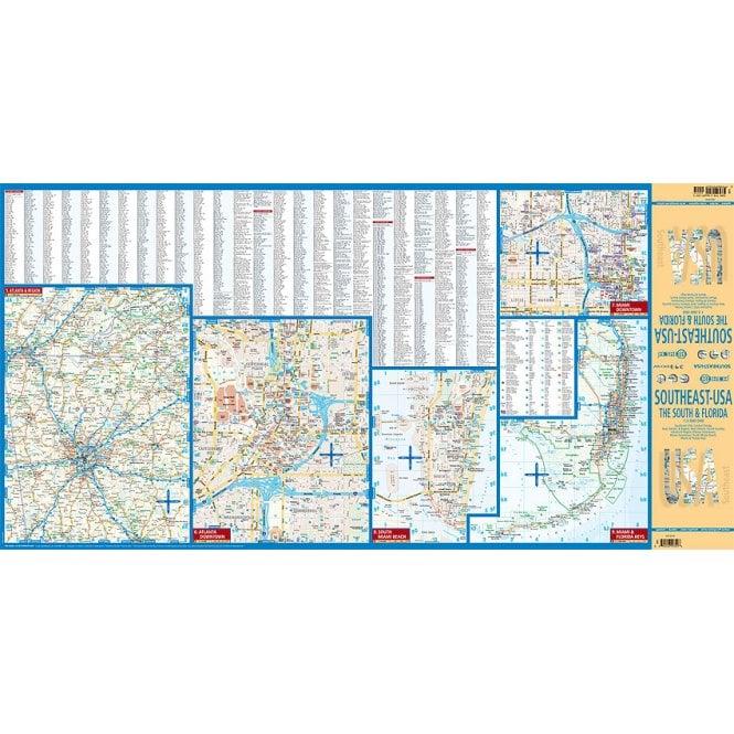 USA 6 - Southeast (The South & Florida) Road Map