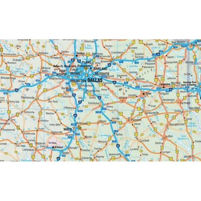 USA Interstate Road Map - Borch