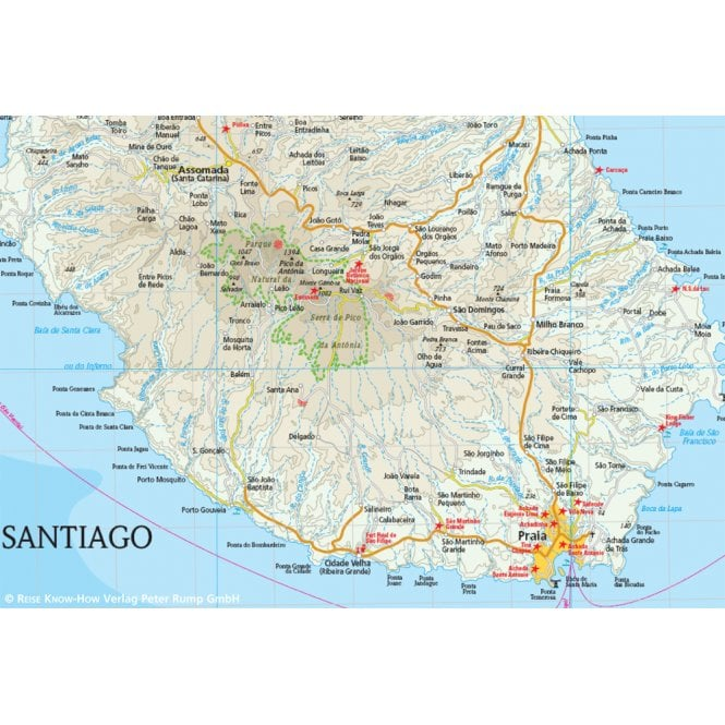 Cape Verde Map - Reise Know-How