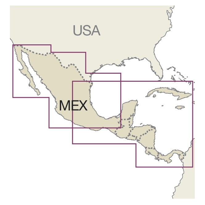 Central America and Mexico Map - Reise Know-How
