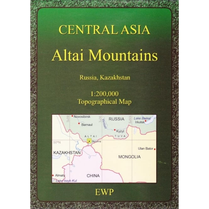 Central Asia: Altai Mountains Map