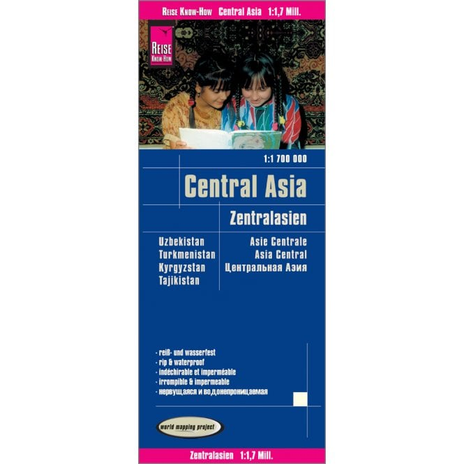 Map Of Asia Kyrgyzstan.Central Asia Map Reise Know How