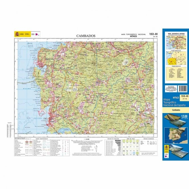 0152 Iii Cambados Topographic 25k Maps Of Spain From Cnig