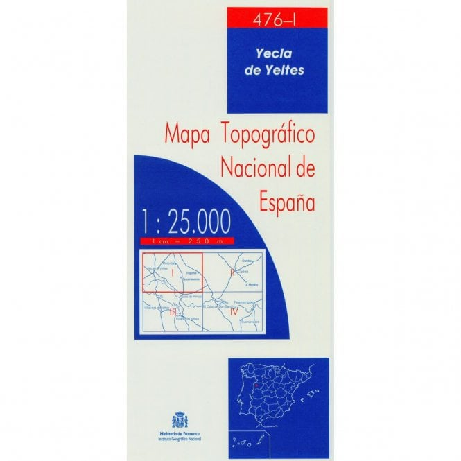 Map Of Yecla Spain.0476 I Yecla De Yeltes