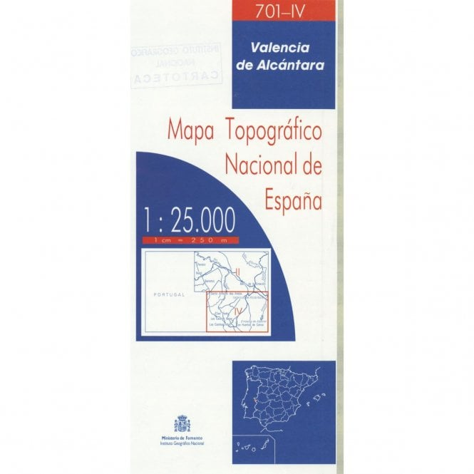 0701 Iv Valencia De Alcantara Topographic 25k Maps Of Spain