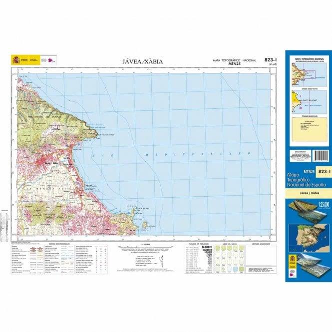 0823 I Javea Xabia Topographic 25k Maps Of Spain From Cnig