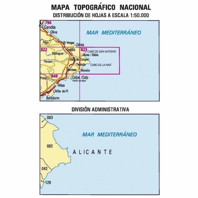 0823 Javea Xabia Topographic 50k Maps Of Spain From Cnig