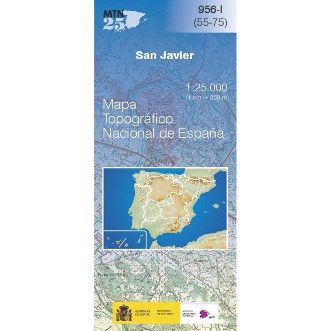 Map Of Javier Spain.0956 I San Javier